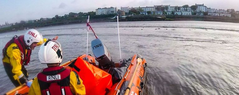 Dun Laoghaire's inshore lifeboat at Blackrock