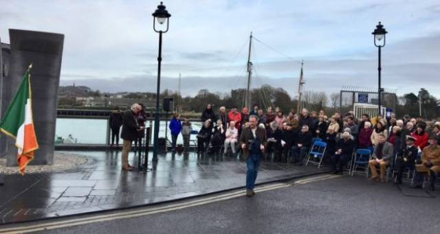 Several events were held in Waterford to mark the centenary of a shipping disaster in 1917, among them along the city quays as pictured above.