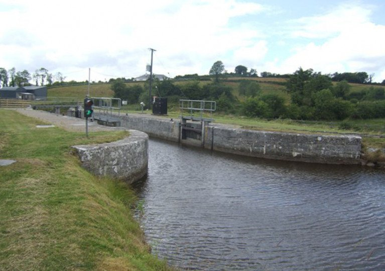 Lock 15 on the Shannon-Erne Waterway at Tirmactiernan