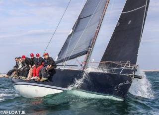 Frank Whelan's Eleuthera won the Viking Marine ISORA Coastal Race into his own home port of Greystones