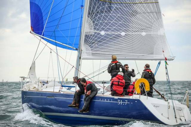 Prospect (Chris Johnston) was third in today's DBSC race on Dublin Bay
