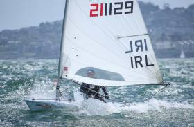 Royal St.George's Theo Lyttle was second in last night's DBSC Laser race