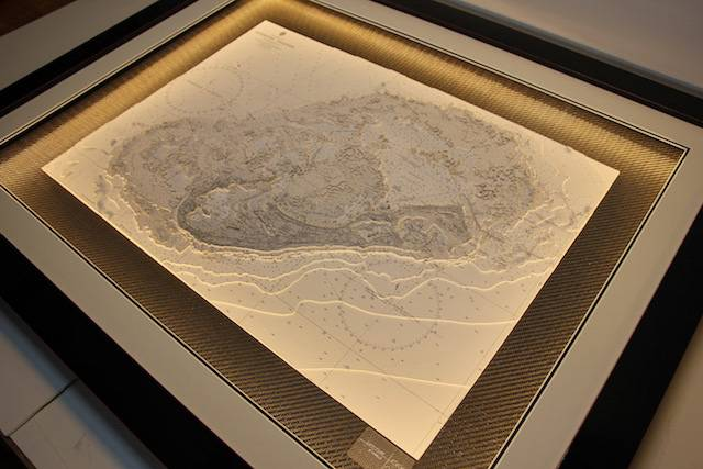 One of the exquisitely detailed 3D maps hand-crafted by Latitude Kinsale for the America's Cup J Class Regatta