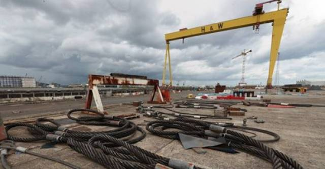 The shipyard of Harland & Wolff