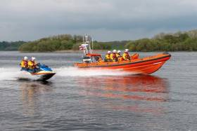 File image of Carrybridge RNLI's inshore lifeboat and rescue water craft