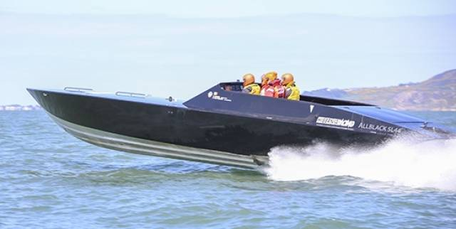 Hibernia Racing's 100 mph ALLBLACK SL44 on Dublin Bay yesterday. See slideshow below.