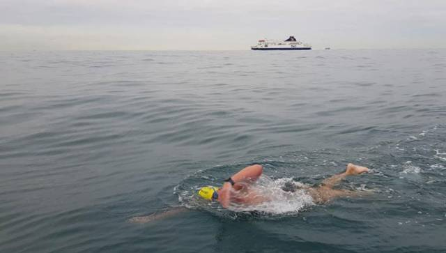 Kevin Procter swimming the English Channel