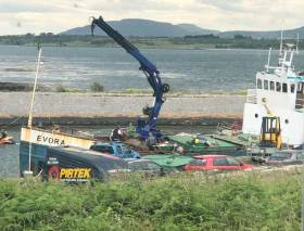 The 30m cargo ship Evora which has been detained by the Marine Survey Office after it was holed near Kinvara, Co Galway. Residents feared that the fuel on board could cause a pollution risk in an area rich in shellfish