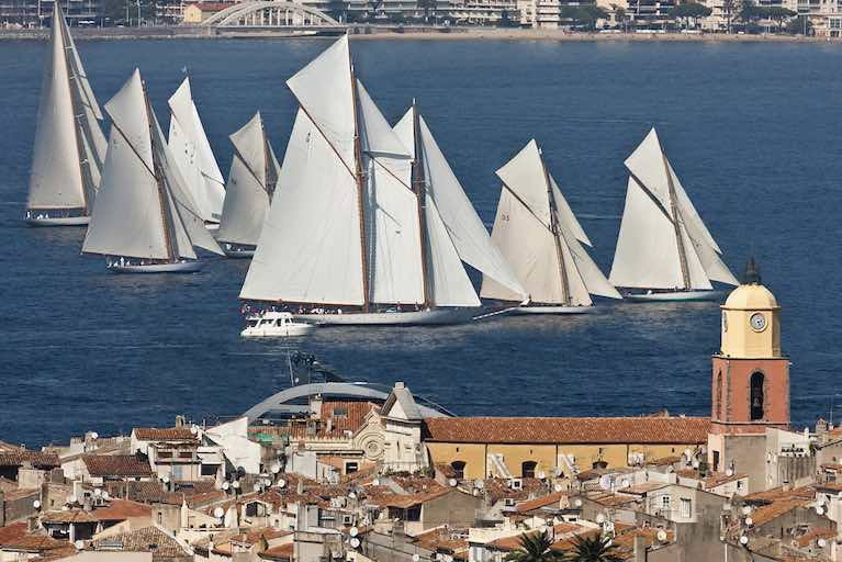 "Let's hear it for the Classics - the 55 metre schooner Elena – the re-creation of a 1910 classic – makes a cracker of a start with only a couple of ""little"" 15 Metres ahead of her at the weekend, close in off the harbour in the 22nd annual staging of Voiles de Saint-Tropez"
