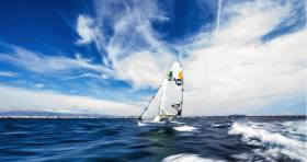 Northern Ireland 49er sailed by Ryan Seaton and Matt McGovern is joint second after two days racing at the Trofeo Princesa Sofia Regatta in Palma