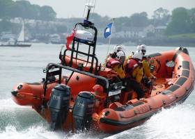 Portaferry RNLI's inshore lifeboat in action