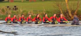 Enniskillen on their way to winning at Commercial regatta
