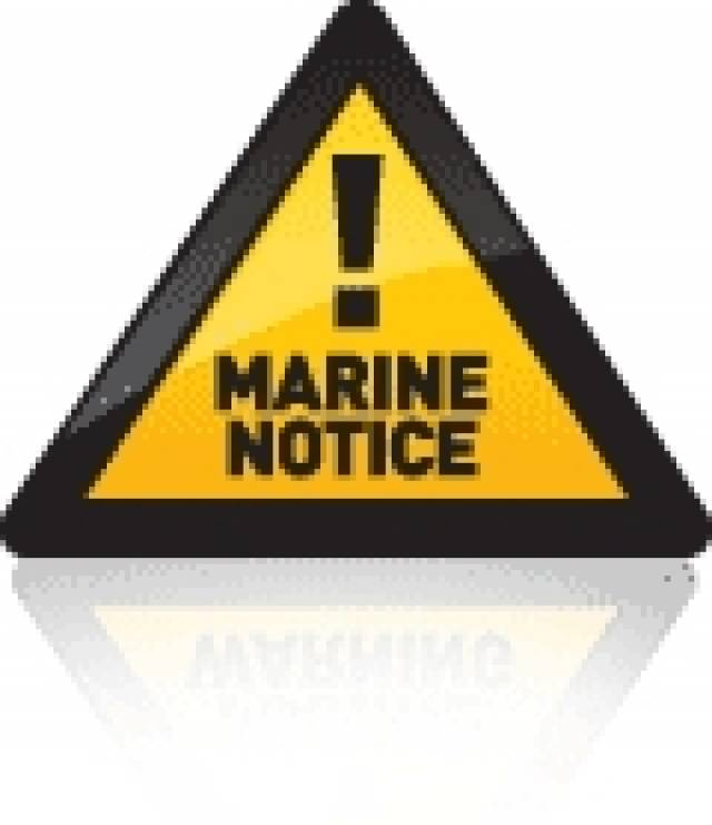 Marine Notice: Construction Works At Westcove Harbour