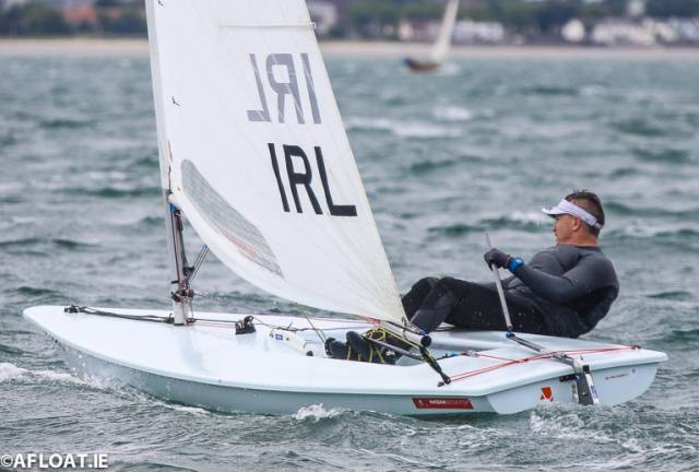 Ross O'Leary was the winner of the second race of the DBSC Laser Standard fleet