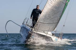 Tom Dolan is sailing his Figaro 3 Smurfit Kappa from Brittany to Dublin Bay for a two-week charity stint