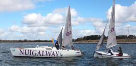 Serving as the Committee Boat for the Connacht team racing event was the Port of Galway supported new NUIG Sailing keelboat (pictured above)