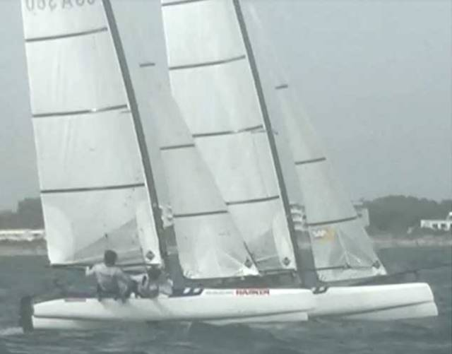 The accident happened in the run in to the windward mark
