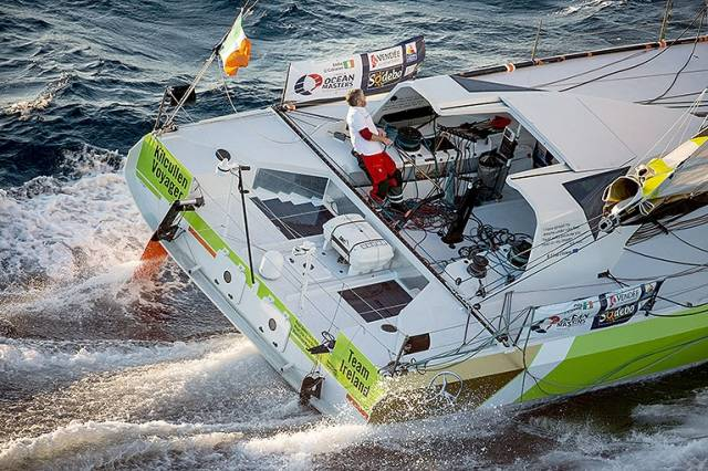 Vendee Globe debutante Enda O'Coineen created a great Irish following in the solo Round the world race. The Irish entry was dismasted off New Zealand