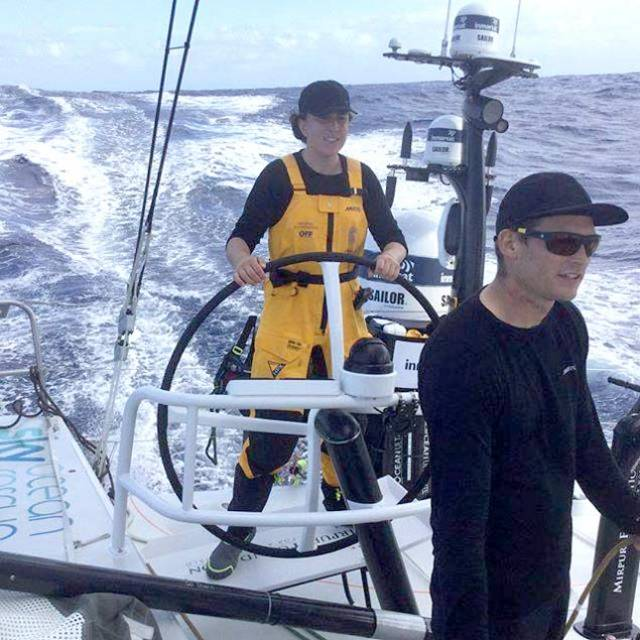 Olympic Silver Medalist Annalise Murphy in VOR mode. If she is to participate in the principal Olympic Qualifier for Tokyo 2020 in Denmark next season it will mean switching from VOR 65 back to her Laser Radial