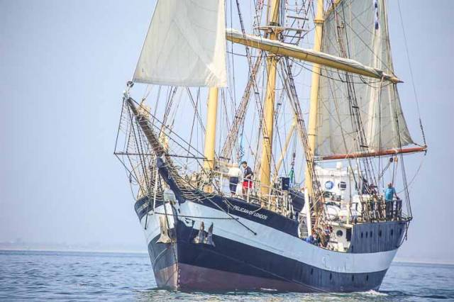 Deaf and hearing-impaired children set out on a six-day sail training voyage aboard the tall ship Pelican of London last summer