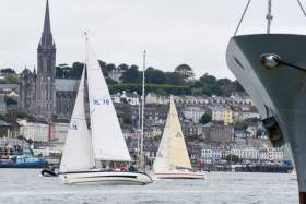 Yachts competing off Cobh in Cork Harbour in the annual Cobh to Blackrock Race
