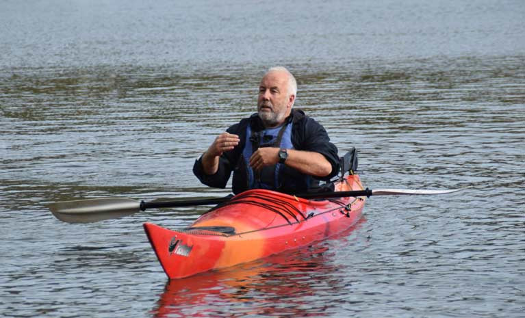Kayaker Jim Kennedy