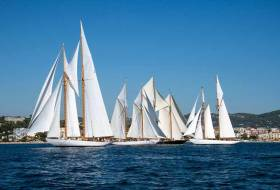 Classic schooners prepare for battle at last week's Régates Royales in Cannes