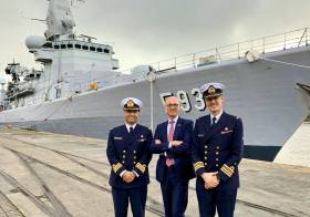 Pierre-Emmanuel De Bauw, Ambassador of Belgium to Ireland made a visit on board BNS Louise-Marie in Dublin Port during a week which also saw a momentous political outcome as a Brexit-Deal was finally agreed in Brussels, the capital of Belgium.