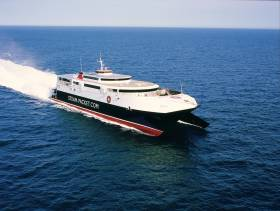 The catamaran, Manannan will also begin routes to Belfast and Dublin in April.