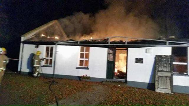 Strangford Sailing Club was gutted by fire in September 2017