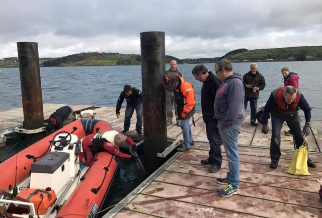 The Lower Aghada Pier Development Group are reminding boaters to make the pier a port of call as the pontoon is now reinstalled