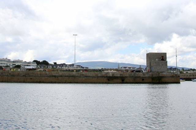 The Coal Quay at Dun Laoghaire where rescue services undertook a large-scale rescue operation