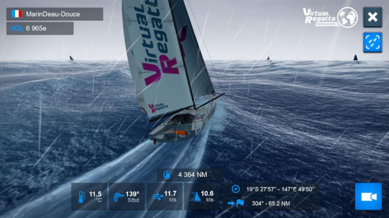 Screenshot from the Virtual Regatta esailing MMO game