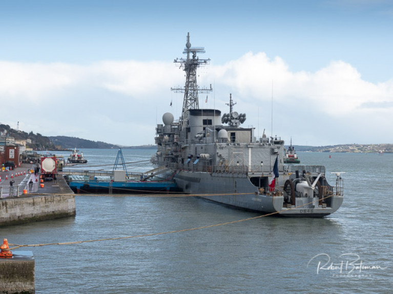 Cobh's cruiseship berth proved ideal for the visiting French Naval Frigate Latouche-Tréville