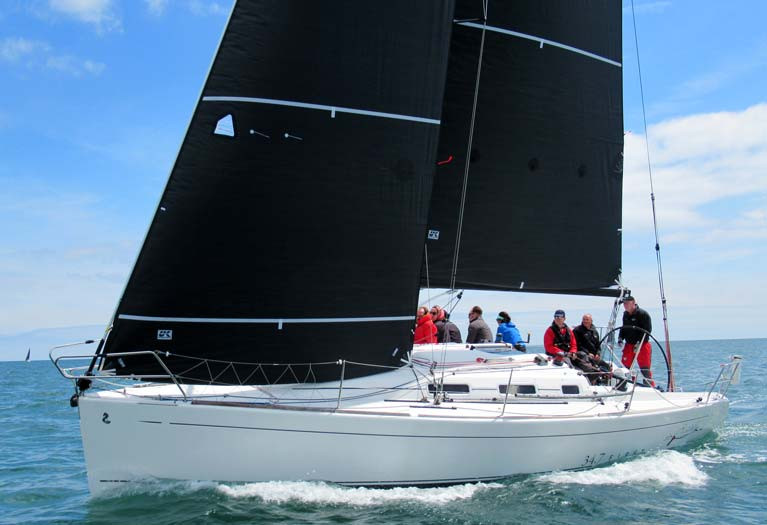 A Beneteau 34.7 with computer designed sails from UK Sailmakers Ireland