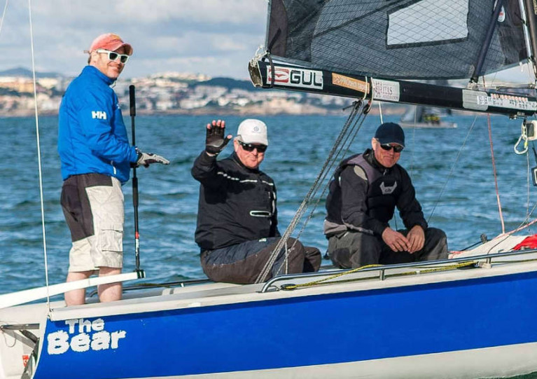 Team Bád at Cascais last month in the latest Winter Series event