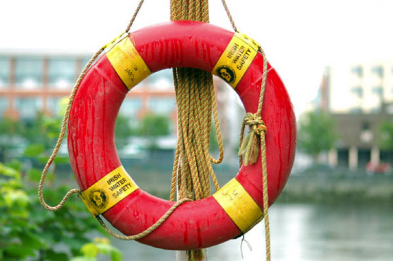 A Water Safety Ireland life ring