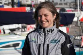 Irish solo sailor Joan Mulloy competed in the Figaro Maître CoQ race this weekend