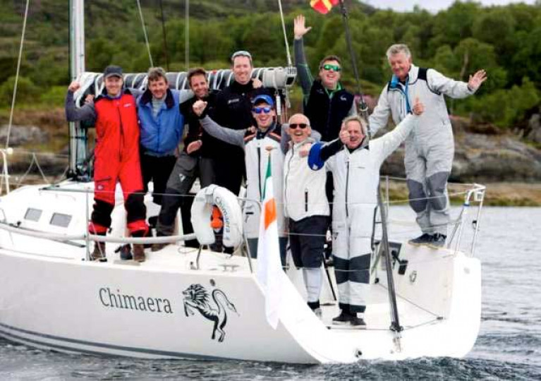 That was then…..the conclusion of Scottish Series a year ago, and Dublin Bay's Andrew Craig (second right) has emerged as overall champion with his J/109 Chimaera and a crew of all the talents