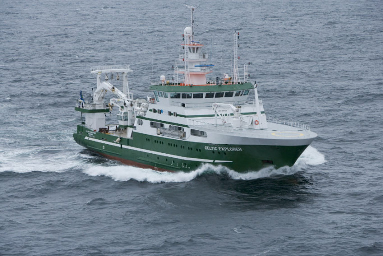 The RV Celtic Explorer is regularly employed for INFOMAR mapping missions