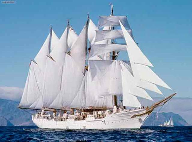 Spanish Navy on Board World's Third Largest Tall Ship Return to Dublin Port