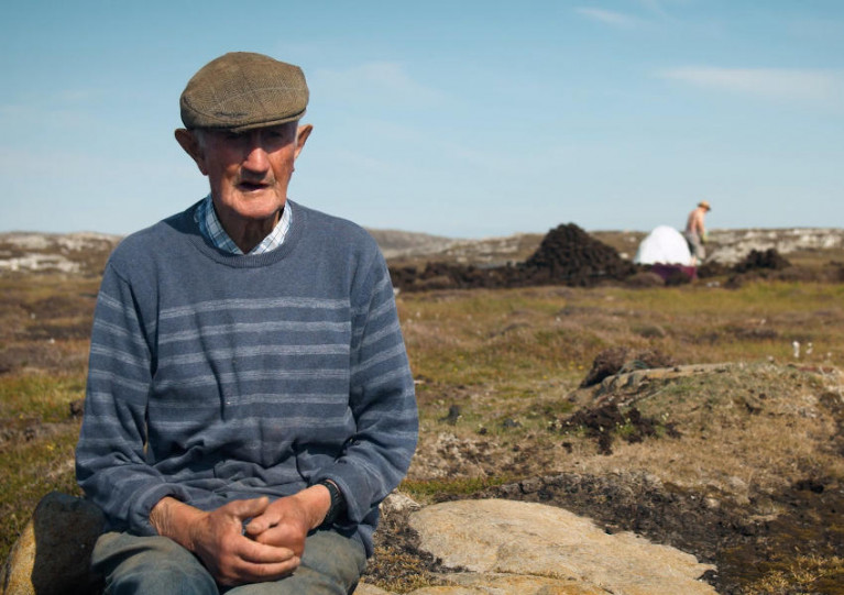 Islander James Coyne in a still from the video series Inishbofin in Lockdown