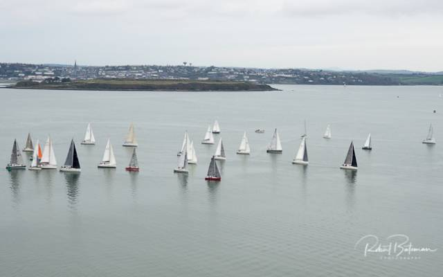 The start of today's RCYC race as viewed from Camden in Cork Harbour
