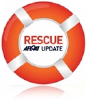RNLI Lifeguards Rescue Man On Castlerock Beach