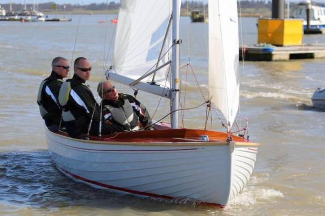Brightlingsea One Design C56 Never Say Never - Owner Geoff Gritton at the helm. See video below.
