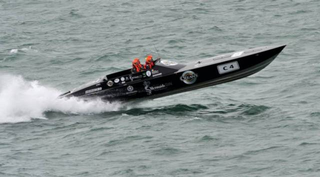 Allblack Racing at sea in January 2017