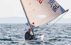 Eve McMahon on her way to U17 victory and third overall in the Laser Radial Youth Worlds in Canada