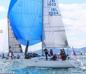 Crazy Horse Flying her 2015 3DL Mainsail and 2014 S2 Spinnaker winning the 2019 B31.7 Nationals