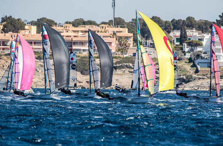49ers racing in Palma in preparation for this month's Trofeo Princesa Sofía Regatta