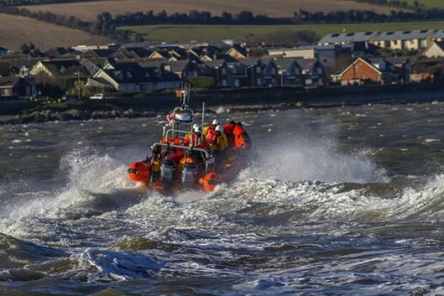 Skerries RNLI's Atlantic 85 inshore lifeboat Louis Simson